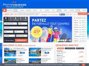 Page web Promovacances